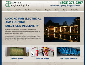 web design electrical lighting