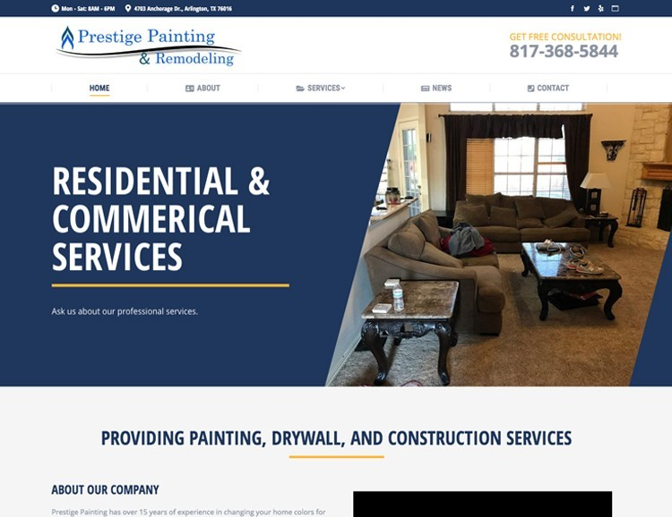 web design painting remodeling