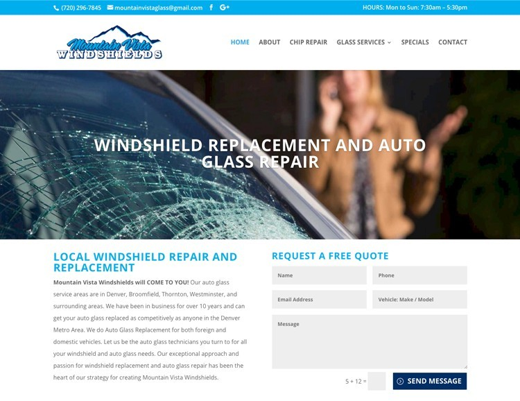 web design windshield replacement